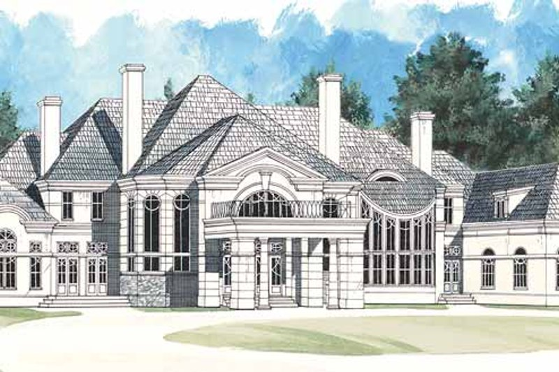 European Exterior - Front Elevation Plan #119-382