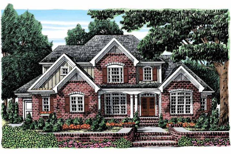 European Exterior - Front Elevation Plan #927-884