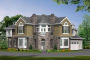 European Style House Plan - 4 Beds 3.5 Baths 4400 Sq/Ft Plan #132-168 Exterior - Other Elevation