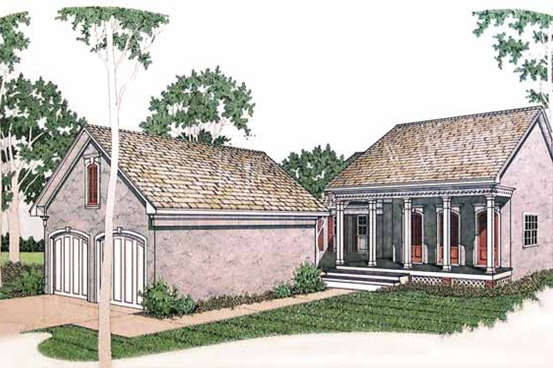 Traditional Exterior - Front Elevation Plan #45-416