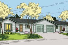 Country Exterior - Front Elevation Plan #60-1040