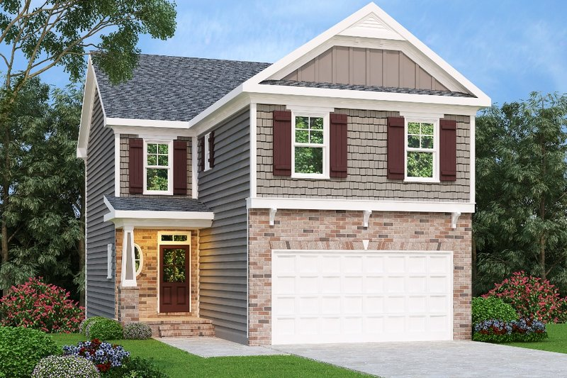 Dream House Plan - Traditional Exterior - Front Elevation Plan #419-221