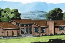 Dream House Plan - Contemporary Exterior - Front Elevation Plan #320-781