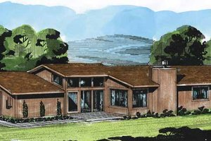 Contemporary Exterior - Front Elevation Plan #320-781