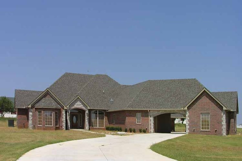 Dream House Plan - Country Exterior - Front Elevation Plan #310-1130