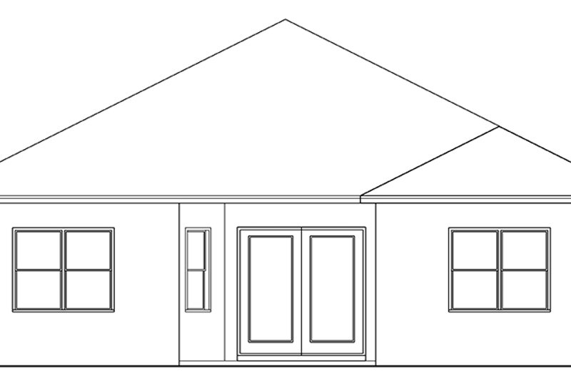 Colonial Exterior - Rear Elevation Plan #1058-143 - Houseplans.com