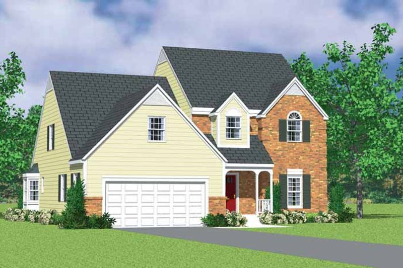 House Blueprint - Country Exterior - Front Elevation Plan #72-1121