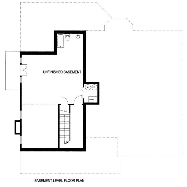 Country Floor Plan - Lower Floor Plan Plan #117-878