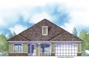Country Exterior - Front Elevation Plan #938-11