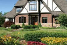 Tudor Exterior - Front Elevation Plan #928-27