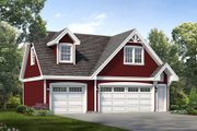 Traditional Style House Plan - 1 Beds 1 Baths 676 Sq/Ft Plan #47-1082 Exterior - Front Elevation