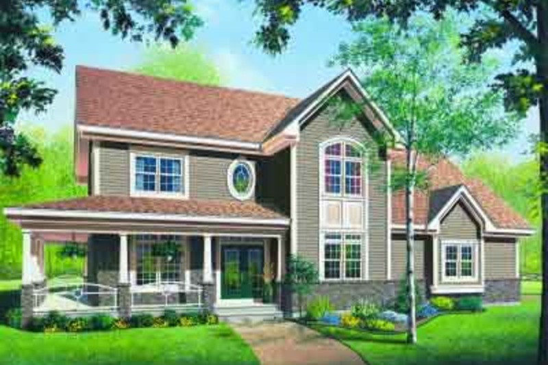 Traditional Exterior - Front Elevation Plan #23-603 - Houseplans.com