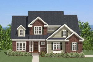 Craftsman Exterior - Front Elevation Plan #898-28