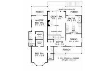 Country Floor Plan - Main Floor Plan Plan #929-517