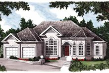 Home Plan - Mediterranean Exterior - Front Elevation Plan #927-187