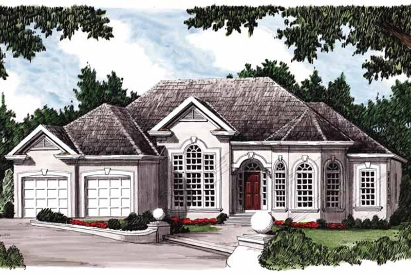 Mediterranean Exterior - Front Elevation Plan #927-187