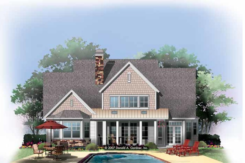 Craftsman Exterior - Rear Elevation Plan #929-833 - Houseplans.com