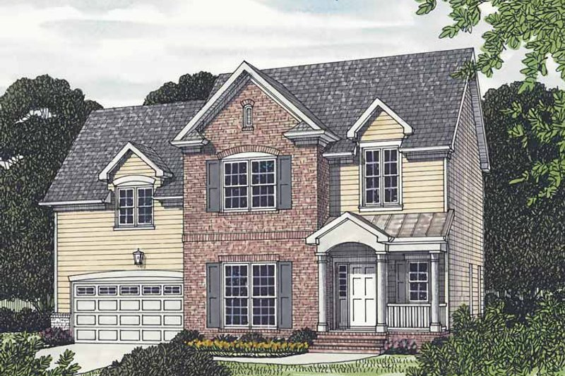 Traditional Exterior - Front Elevation Plan #453-501 - Houseplans.com