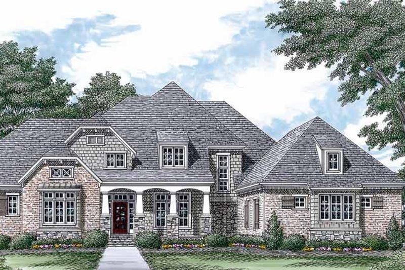 Dream House Plan - Craftsman Exterior - Front Elevation Plan #453-450