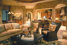 House Plan Design - Mediterranean Interior - Family Room Plan #930-323