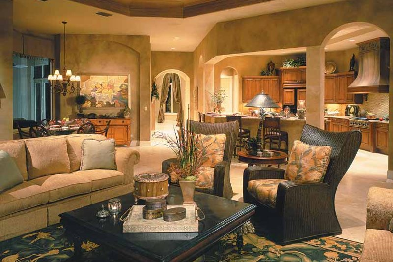 Mediterranean Interior - Family Room Plan #930-323 - Houseplans.com