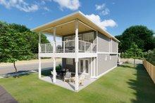 Craftsman Exterior - Rear Elevation Plan #126-202