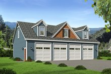 Country Exterior - Front Elevation Plan #932-124