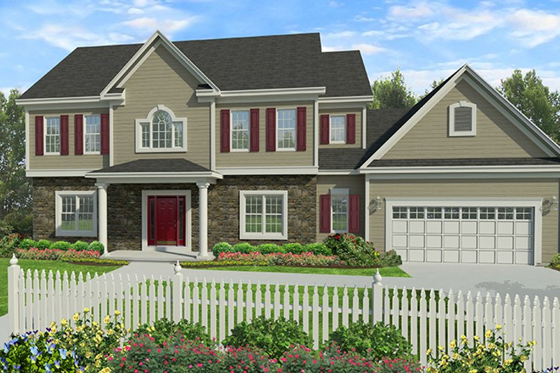 Architectural House Design - Traditional Exterior - Front Elevation Plan #1010-131
