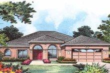 Architectural House Design - Mediterranean Exterior - Front Elevation Plan #1015-14