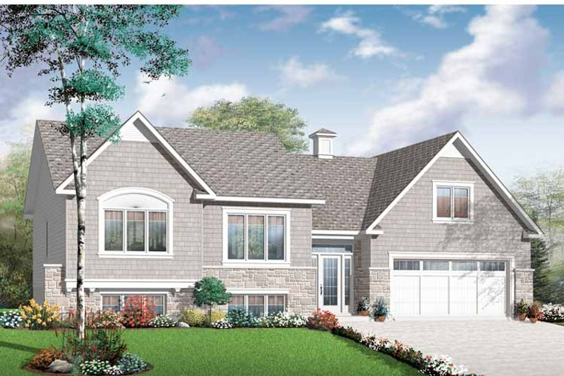 House Plan Design - Craftsman Exterior - Front Elevation Plan #23-2435