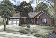 Architectural House Design - Ranch Exterior - Front Elevation Plan #17-2841