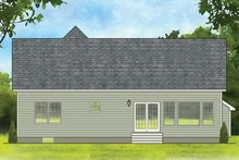 Dream House Plan - Ranch Exterior - Rear Elevation Plan #1010-180