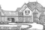 European Style House Plan - 4 Beds 4.5 Baths 4630 Sq/Ft Plan #310-519 Exterior - Front Elevation