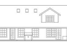 Home Plan - Exterior - Rear Elevation Plan #124-342