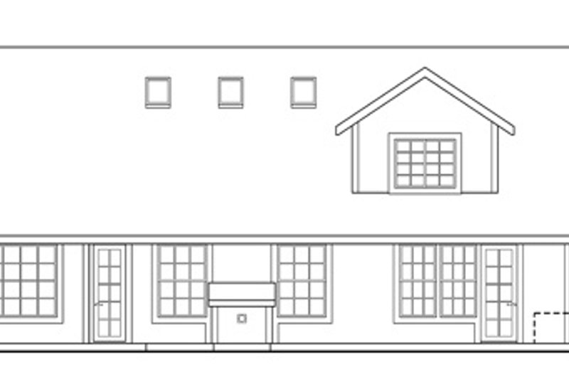 Exterior - Rear Elevation Plan #124-342 - Houseplans.com
