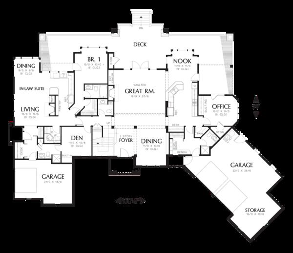Dream House Plan - Craftsman Floor Plan - Main Floor Plan #48-353