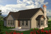 Ranch Style House Plan - 2 Beds 2 Baths 1518 Sq/Ft Plan #70-1189 Exterior - Rear Elevation