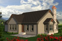 House Design - Ranch Exterior - Rear Elevation Plan #70-1189