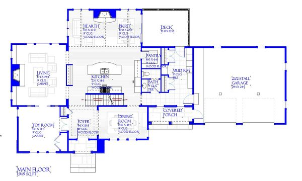 European Floor Plan - Main Floor Plan Plan #901-143