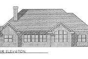 Traditional Style House Plan - 3 Beds 2.5 Baths 2645 Sq/Ft Plan #70-435 Exterior - Rear Elevation
