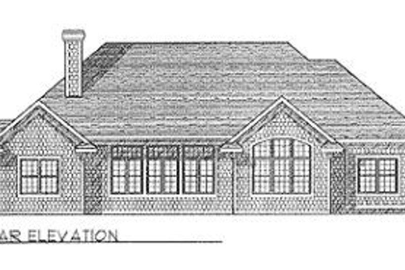 Traditional Exterior - Rear Elevation Plan #70-435 - Houseplans.com