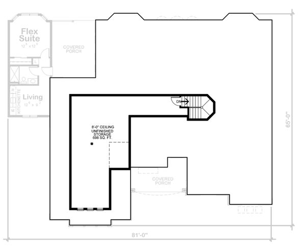 European Floor Plan - Upper Floor Plan Plan #20-2361