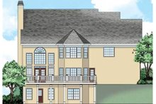 Traditional Exterior - Rear Elevation Plan #927-32