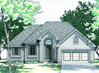 Traditional Exterior - Front Elevation Plan #20-147 - Houseplans.com