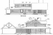 Log Style House Plan - 4 Beds 3 Baths 3098 Sq/Ft Plan #17-472 Exterior - Rear Elevation