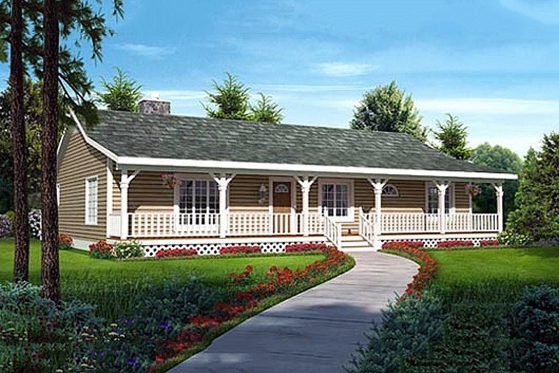 Ranch Style House Plan - 3 Beds 2 Baths 1792 Sq/Ft Plan #312-875