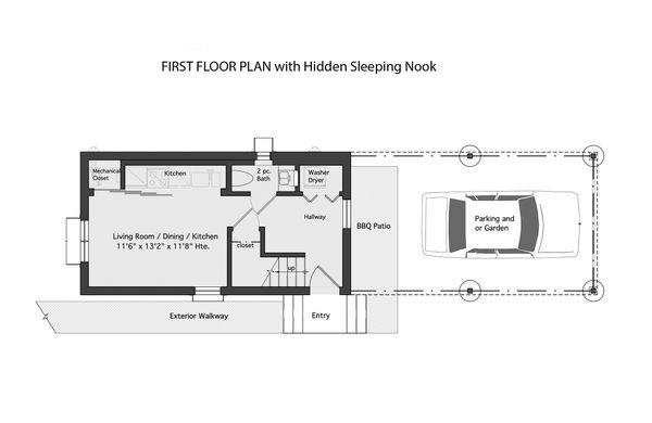 Modern Floor Plan - Main Floor Plan Plan #905-5