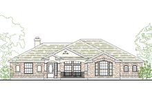 Dream House Plan - Mediterranean Exterior - Front Elevation Plan #80-202