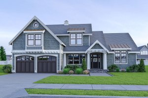 Craftsman Exterior - Front Elevation Plan #1070-58