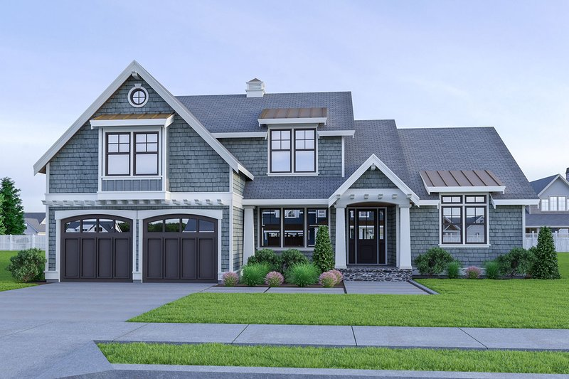 Dream House Plan - Craftsman Exterior - Front Elevation Plan #1070-58